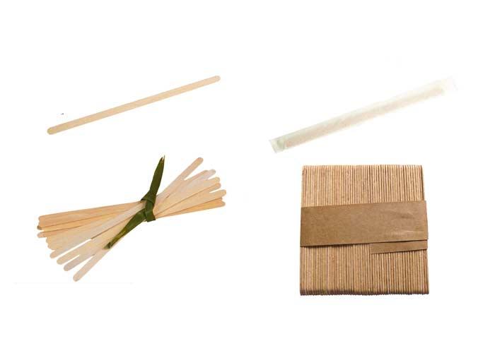 Calici cannucce e spatole forniture service for Bicchieri in legno
